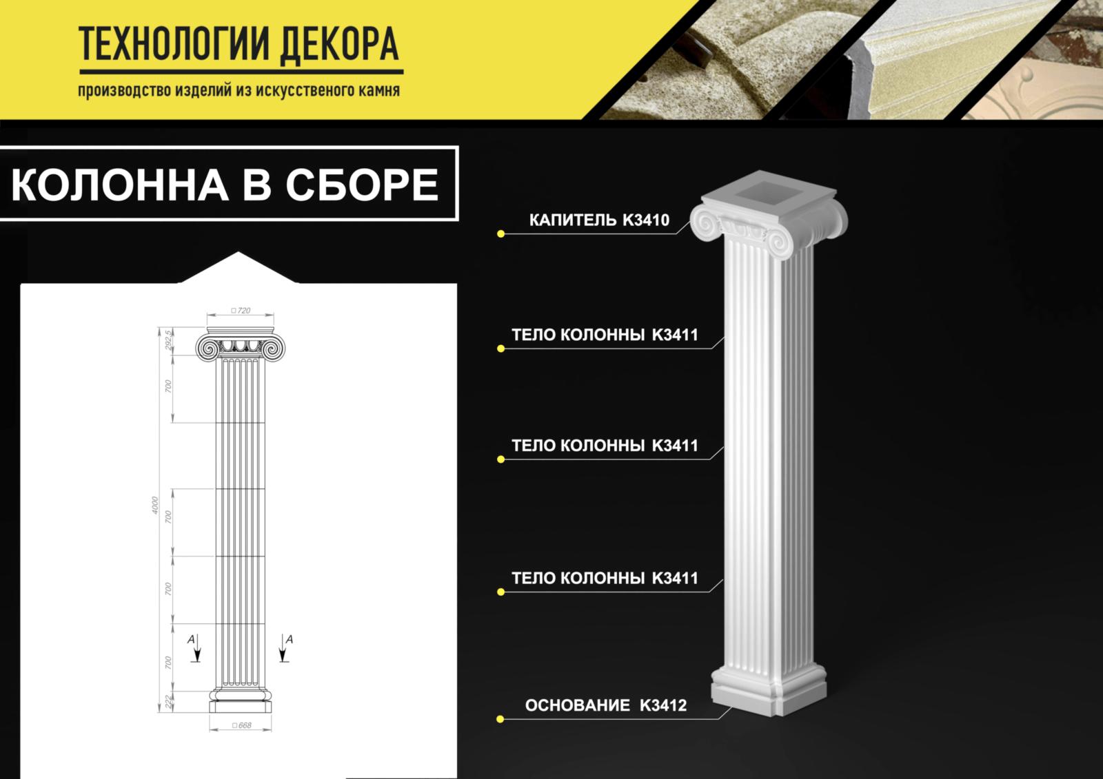 роизводство колонн из архикамня и стеклофибробетона.