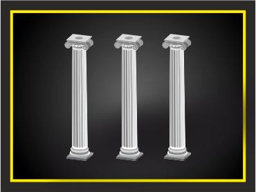 Колонны, декоративный элемент из архикамня или стеклофибробетона