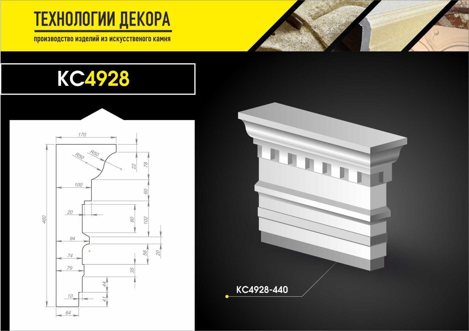 Фасадные карнизы из СФБ. В наличии декоративный элемент и на заказ в Москве. Скидки!